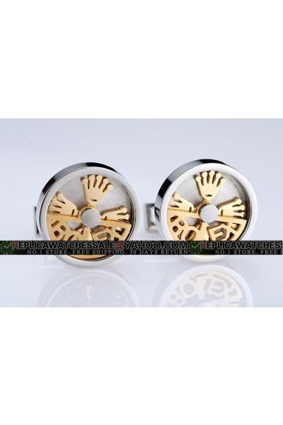 Cheapest Elegant Rolex Gold Plated Crown Logo Cufflinks AAA Quality For Sale