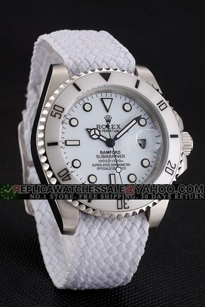 Most Popular AAAAA Rolex Imitated Submariner White Fabric Strap Ceramic Bezel Light Blue Dial Swiss Automatic Watch For Unisex
