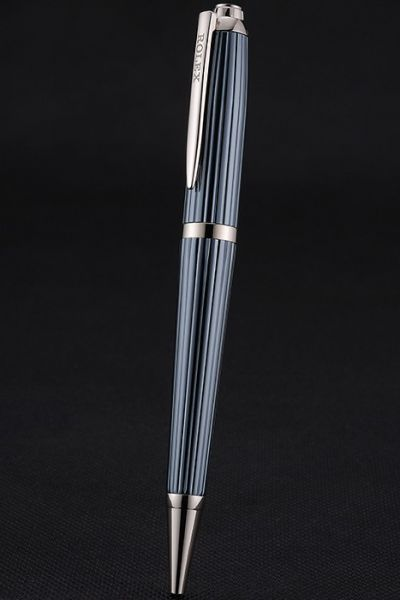 Rolex Blue Rotary Transverse Wave Ballpoint Pen With Silver Rimmed  AAA Quality Online Sale
