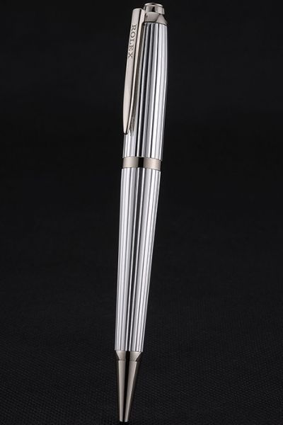 High-Quality Rolex Silver Telescopic Ballpoint Pen With Classic Crown Logo Good Birthday Present