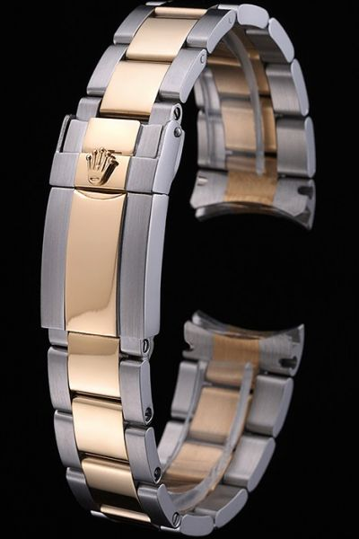 Rolex Plated Yellow Gold Two-tone Bracelet with Safety Fold Over Clasp Good Reviews