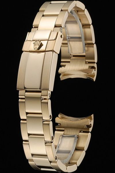 Luxury Rolex 316L Stainless Steel Yellow Gold Link Bracelet For Gentlemen Hot Selling