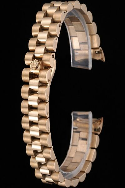 Rolex Yellow Gold Stainless Steel Bracelet With Security Hide Clasp Online Sale