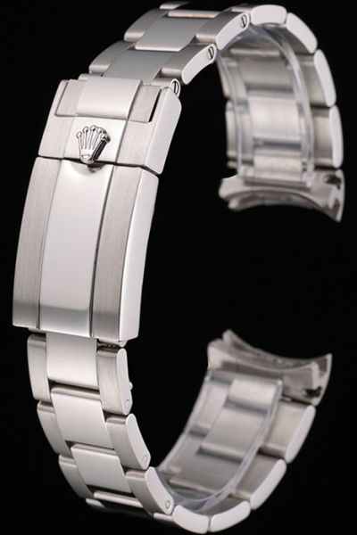 Classic Rolex Silver Stainless Steel Watches Bracelet with Fold Over Clasp Replica Online Shop