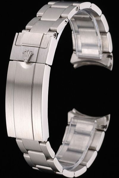 Rolex Silver Stainless Steel Watches Bracelet With Fold Over Clasp Free Shipping