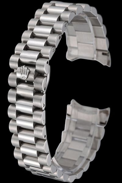 Replica Rolex Silver Stainless Steel Watches Bracelet With Security Hide Clasp Free Delivery