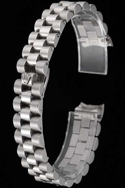 Rolex Silver Polished Stainless Steel Bracelet With Security Hide Clasp Good Reviews