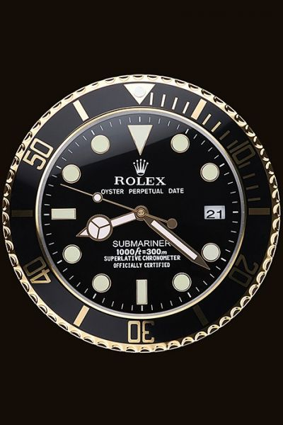 Good Reviews Rolex Round Submariner White Hands Wall Clock For Men And Women