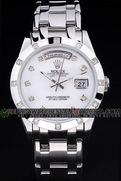Unisex Replica Diamond Scale Silvery 36mm Case Day-Date Rhinestone-Stud Auto Watch Usa E-Store