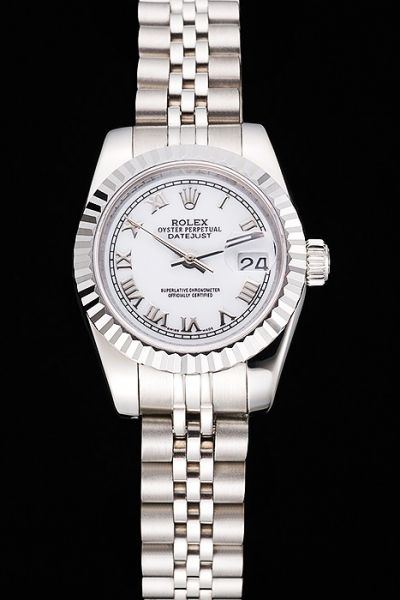2019 Rolex Datejust 34MM Roman Scale White Dial Convex Lens Date Watch All SS Swiss Womens Watch