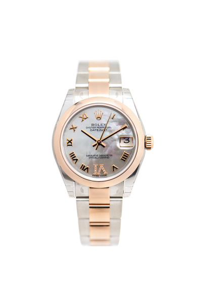 2021 New Rolex Datejust 31 Silver MOP Dial Rose Gold Roman Markers VI Diamonds Two-tone Automatic Watch