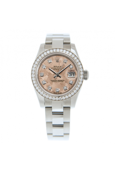 2021 Chic Rolex Datejust 26 Pink Watercolor Painting Face Female Stainless Steel Oyster Bracelet Diamonds Watch Replica