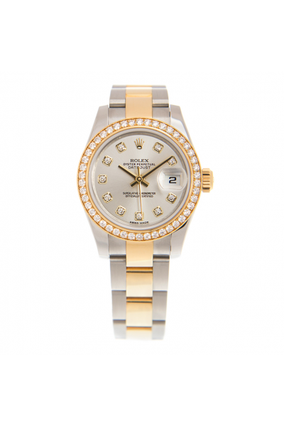 Best Rolex Datejust 26MM Automatic Diamonds Markers / Bezel Women Yellow Gold & Steel Oyster Watch
